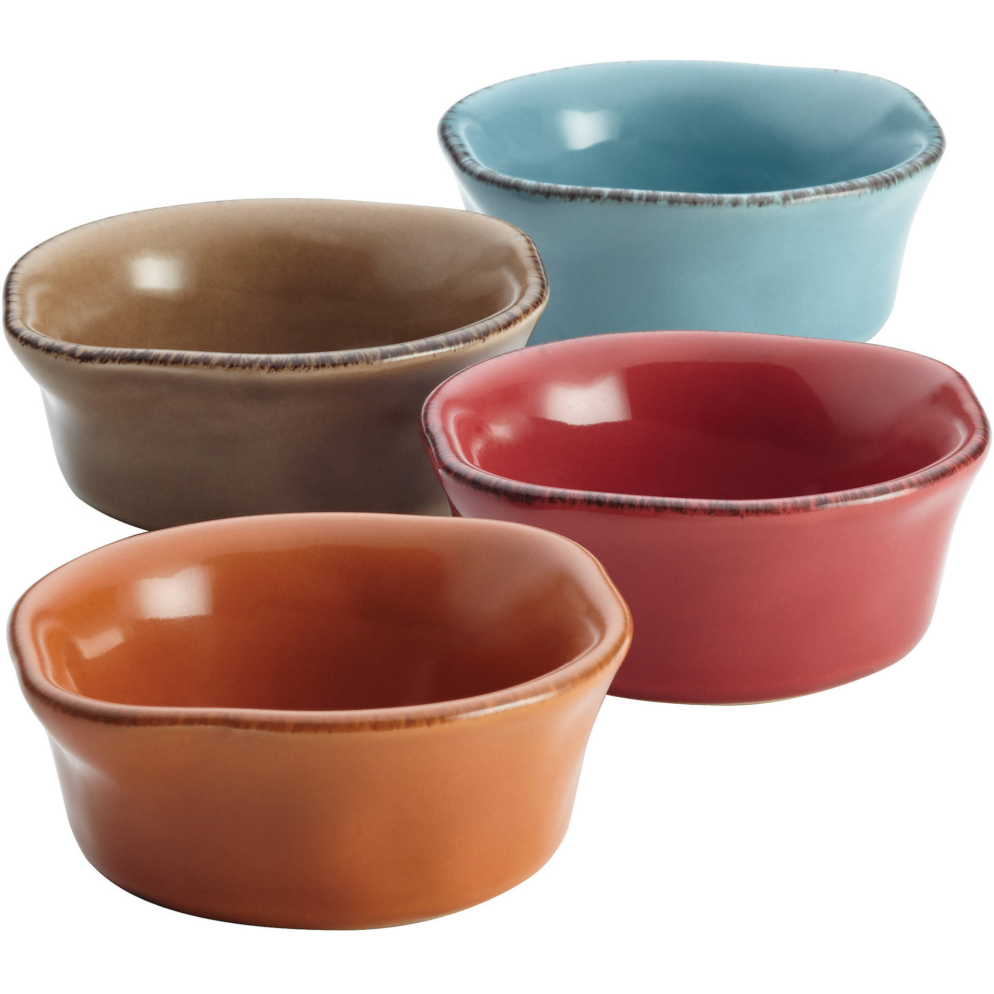 Rachael Ray Cucina Stoneware 4-Piece Dipping Cup Set