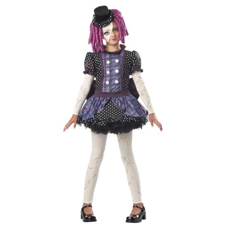 Girls Broken Doll Halloween Costume](Broken Doll Halloween Mask)