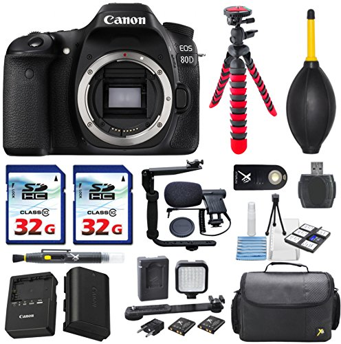 canon eos 80d 24.2mp digital slr camera body only + 2pc