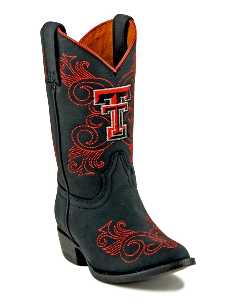 Gameday Boots Girls College Texas Tech Masked Rider Black TT-G033-2 by Gameday Boots