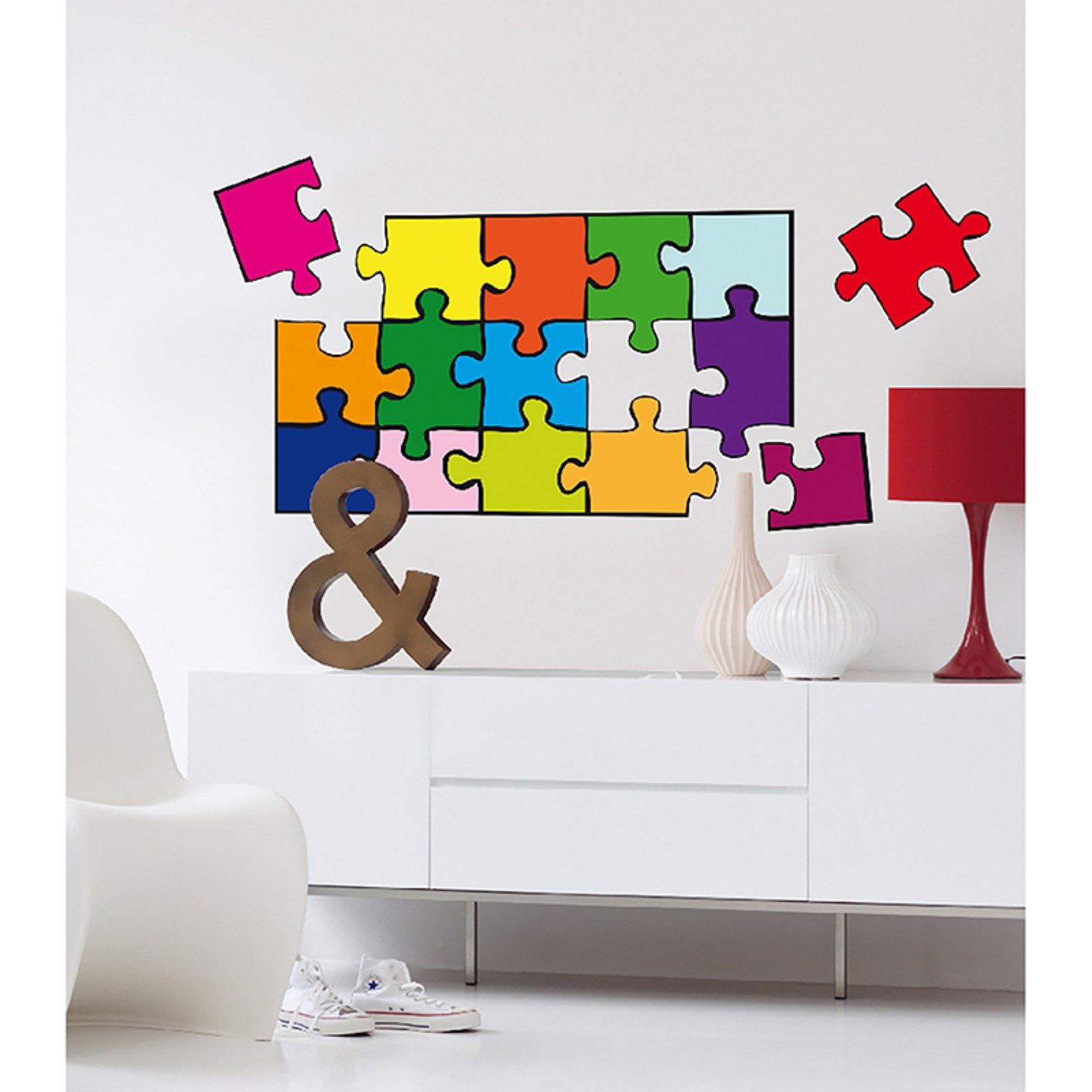 ideal d cor puzzle wall decals. Black Bedroom Furniture Sets. Home Design Ideas