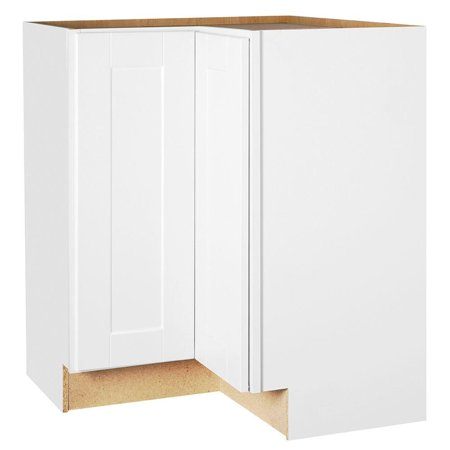 RSI HOME PRODUCTS SHAKER CORNER BASE CABINET WITH LAZY SUSAN, WHITE
