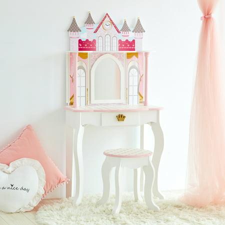 Teamson Kids - Dreamland Castle Toy Vanity Set - White / Pink ()