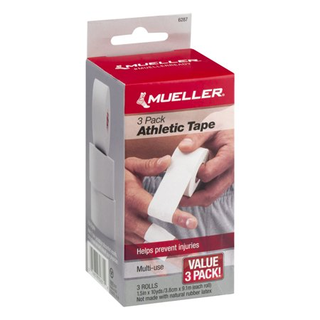10 Each Pack (Mueller Athletic Tape Rolls Value Pack, 3 count (1.5 in x 10 yds each) )