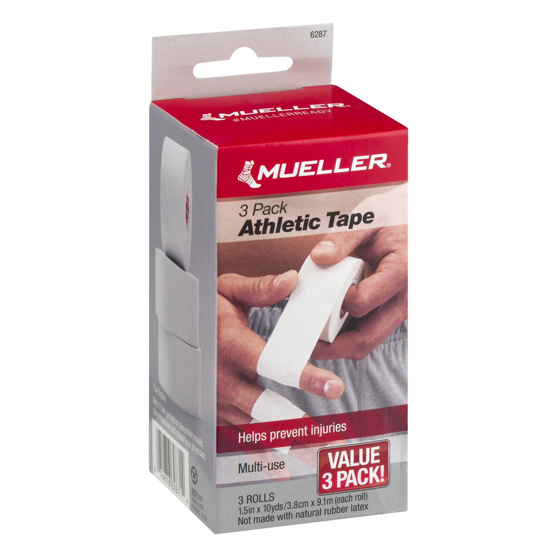 Mueller Athletic Tape Rolls Value Pack, 3 count