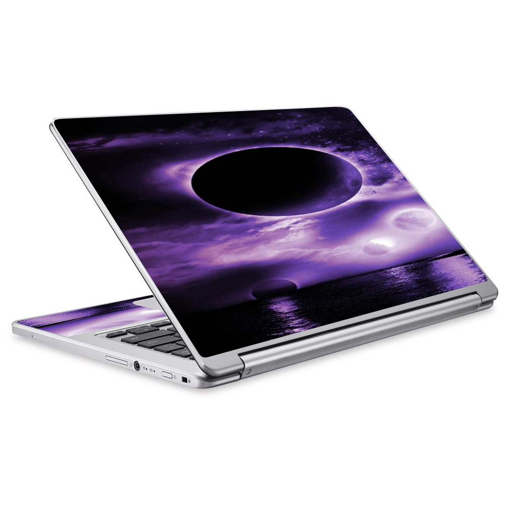 Skins Decals For Acer Chromebook R13 Laptop Vinyl Wrap / Eclipsed Moon Purple Sky