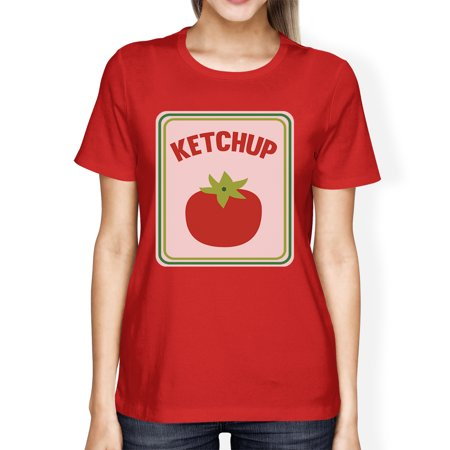 Ketchup Halloween Costume For Adults Womens Graphic Cotton Tshirt - Ladies Costumes For Halloween