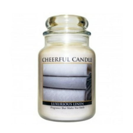 A Cheerful Giver Luxurious Linen Scented 2-Wick Glass Jar Candle - 24 oz.
