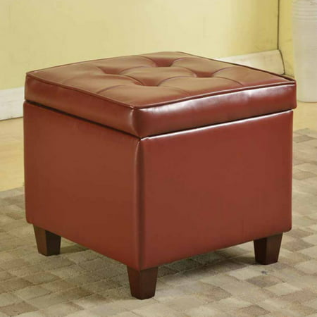 Awesome Kinfine Usa Square Tufted Leatherette Storage Ottoman Forskolin Free Trial Chair Design Images Forskolin Free Trialorg