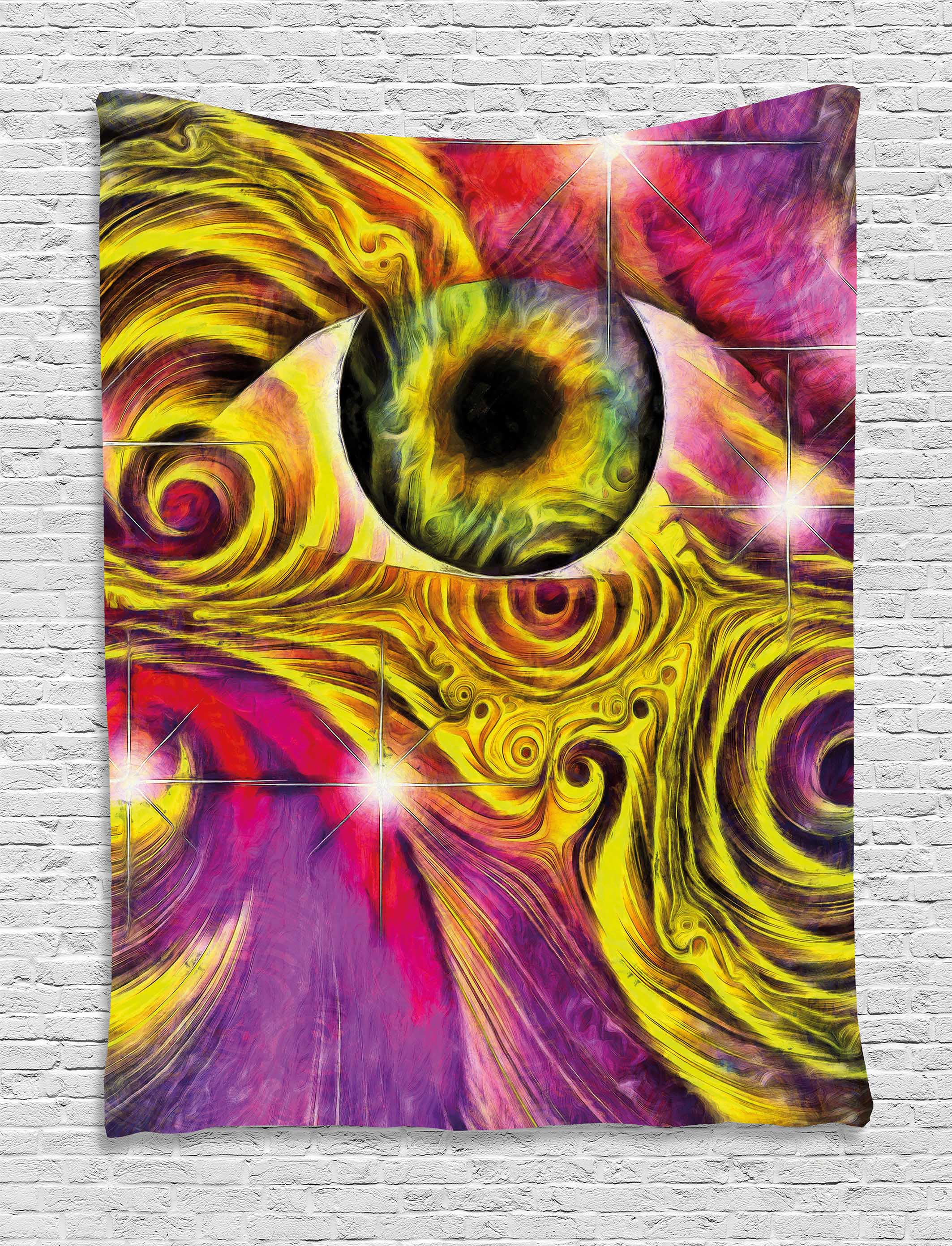 Psychedelic Trippy Tapestry Hallucinatory Eye Colors Optical Swirl ...