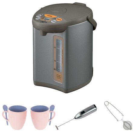 zojirushi cd wbc30 ts micom 3 liter water boiler and warmer knox 16oz mug with spoon 2 pack. Black Bedroom Furniture Sets. Home Design Ideas