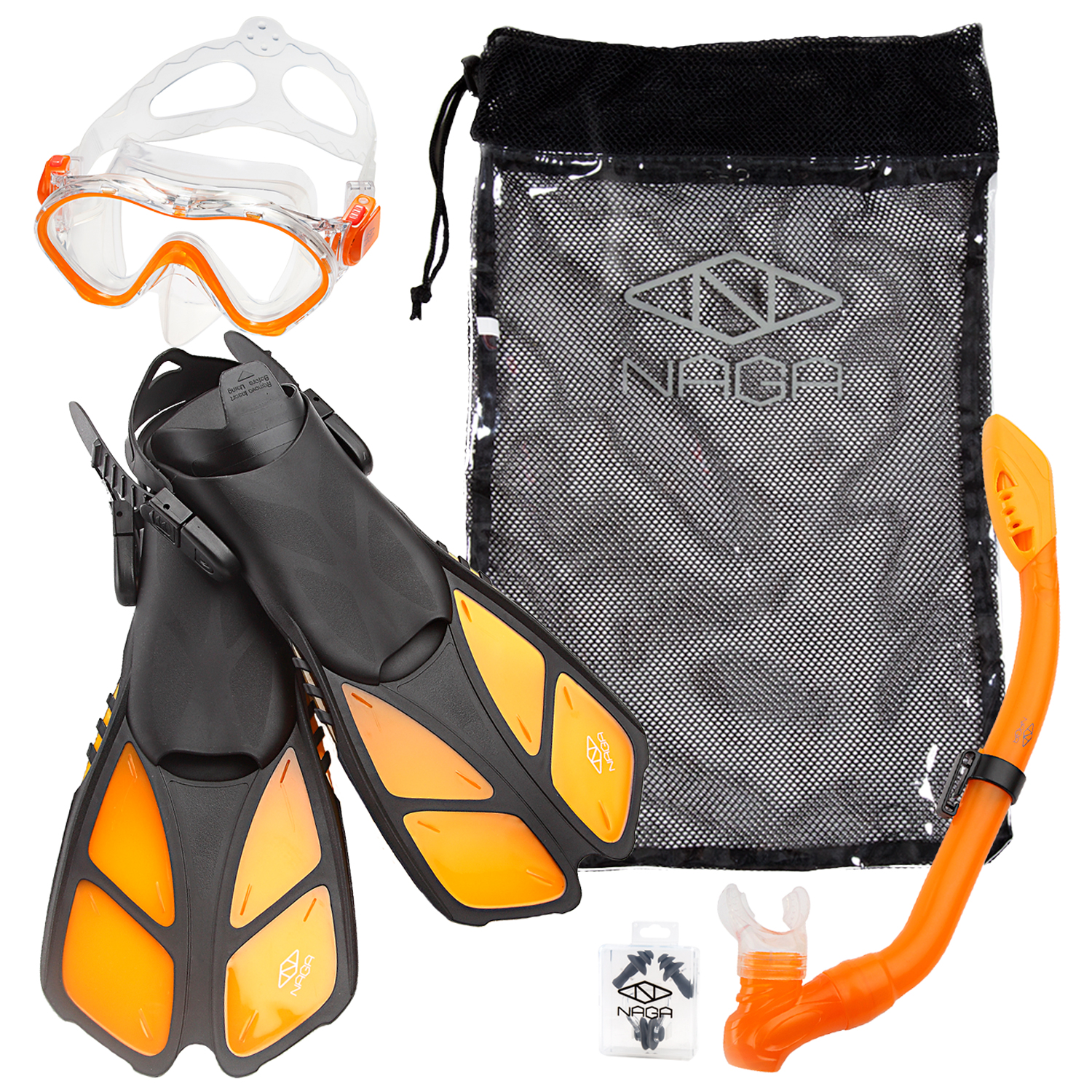 NAGA Sports Kids Snorkel Set - Blue