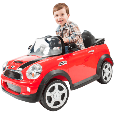 (Rollplay 6 Volt MINI Cooper Ride On Toy, Battery-Powered Kid's Ride On Car - Red)