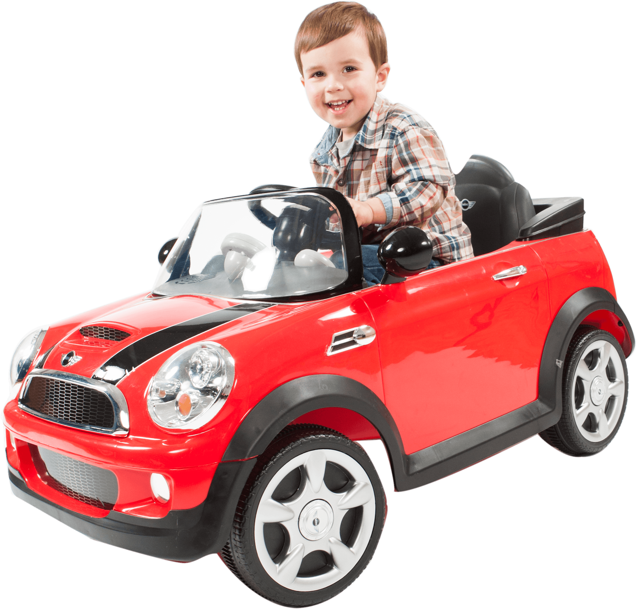 Rollplay 6 Volt MINI Cooper Ride On Toy, Battery-Powered Kid's Ride On Car - Red