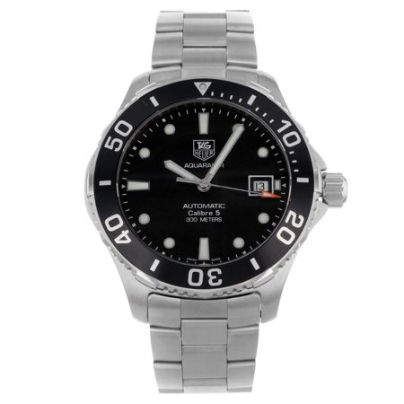 Tag heuer tag heuer men 39 s aquaracer watch swiss automatic anti reflective crystal for Anti reflective watches