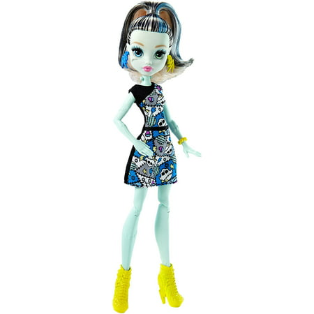 Frankie Stein Doll, Favorite Monster High ghouls are ready for scary cool posing with articulation at the shoulders and knees! By Monster High - Scary Dolls For Halloween