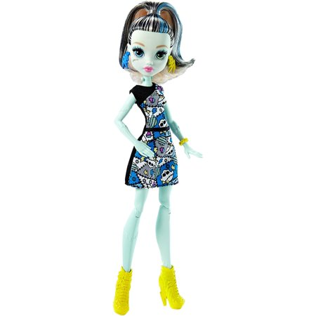 Frankie Stein Doll, Favorite Monster High ghouls are ready for scary cool posing with articulation at the shoulders and knees! By Monster High - Monster High Sale