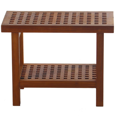 Symple Stuff Teak Shower Seat