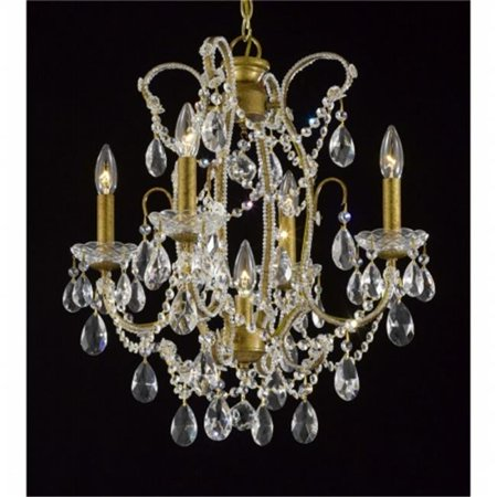 Upscale Chandelier 483339-4-1AG Antique Reproduction Beaded Chandelier With  Hand Polished Crystal Trim - Upscale Chandelier 483339-4-1AG Antique Reproduction Beaded