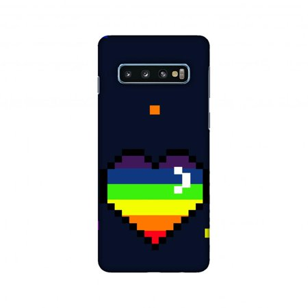 Samsung Galaxy S10 Case, AMZER Ultra Slim Hard Shell Designer Printed Case for Samsung Galaxy S10 - Pixelated (Pixelated Heart)