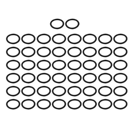 Unique Bargains 50pcs Black Nitrile Butadiene Rubber NBR O-Ring 19mm Inner Dia 2.5mm Width - image 1 de 1