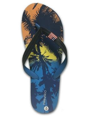 a68c41423e9ef8 Product Image Fresko Men s Flip-Flops Sandals Navy Orange 10 D(M) US