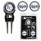 Team Golf MLB Kansas City Royals Divot Tool Pack With 3 Golf Ball Markers