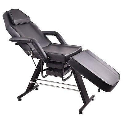 Adjustable Salon SPA Black Massage Bed Tattoo Chair Facia...