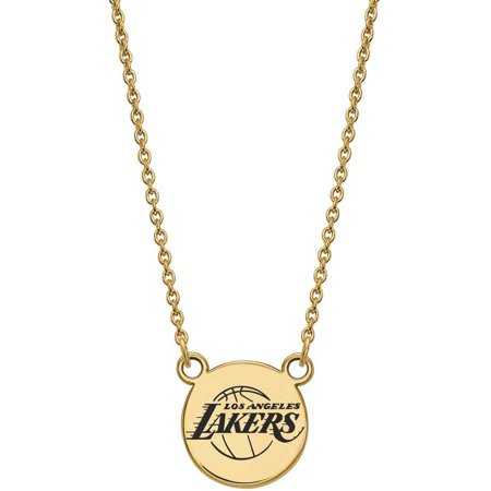 Los Angeles Lakers Jewelry Box (LogoArt NBA Los Angeles Lakers 14kt Gold-Plated Sterling Silver Small Enamel Disc Necklace)