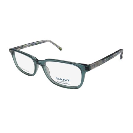 New Gant Havana Womens/Ladies Designer Full-Rim Transparent Teal ...