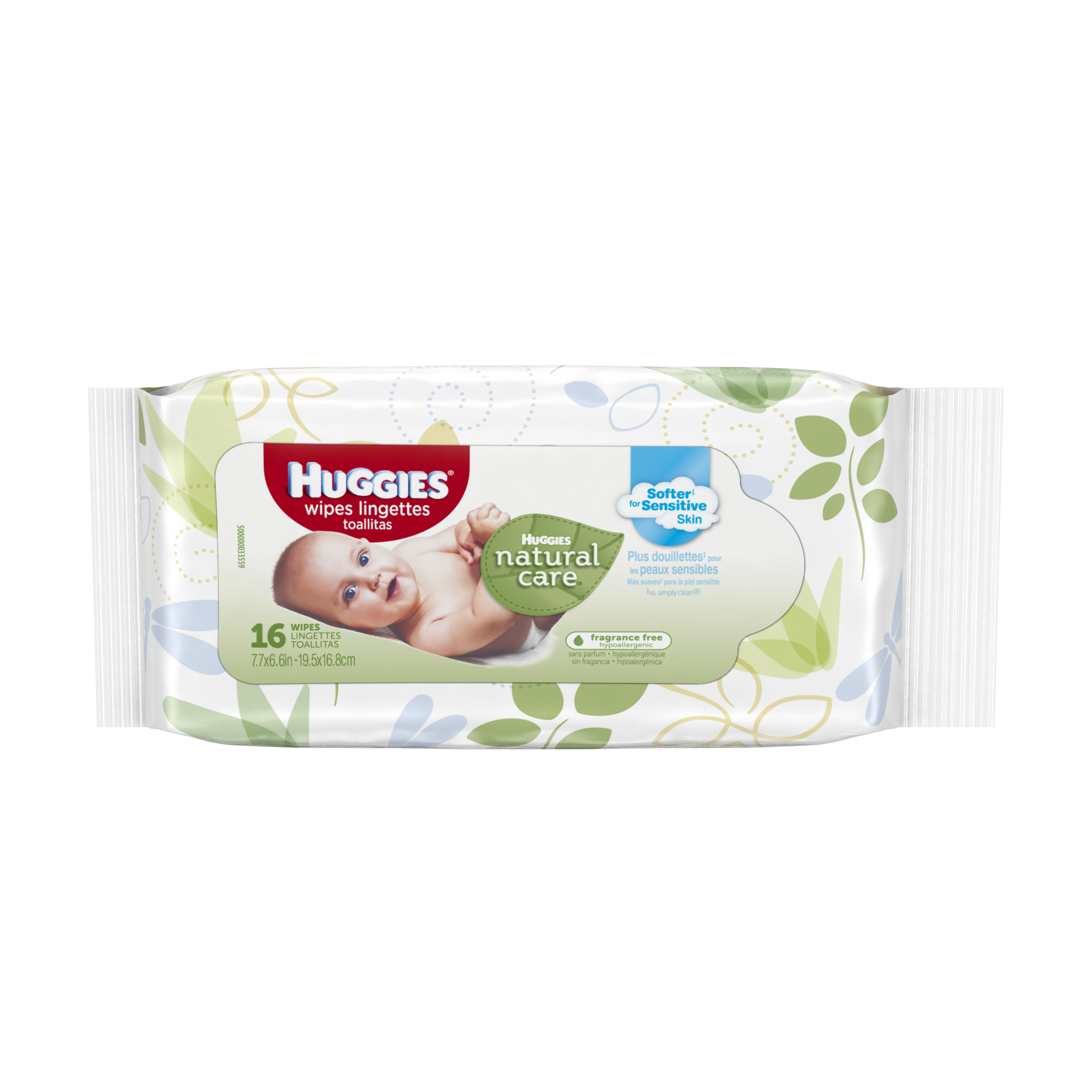 HUGGIES? Natural Care? Baby Wipes, Soft Pack