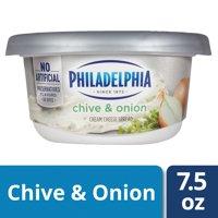 Philadelphia Chive and Onion Cream Cheese Spread, 7.5 oz Tub