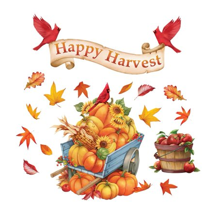 Happy Harvest Garage Door Magnets, Outdoor Fall Decorations - Removable and - Happy Halloween Garage Door Magnets