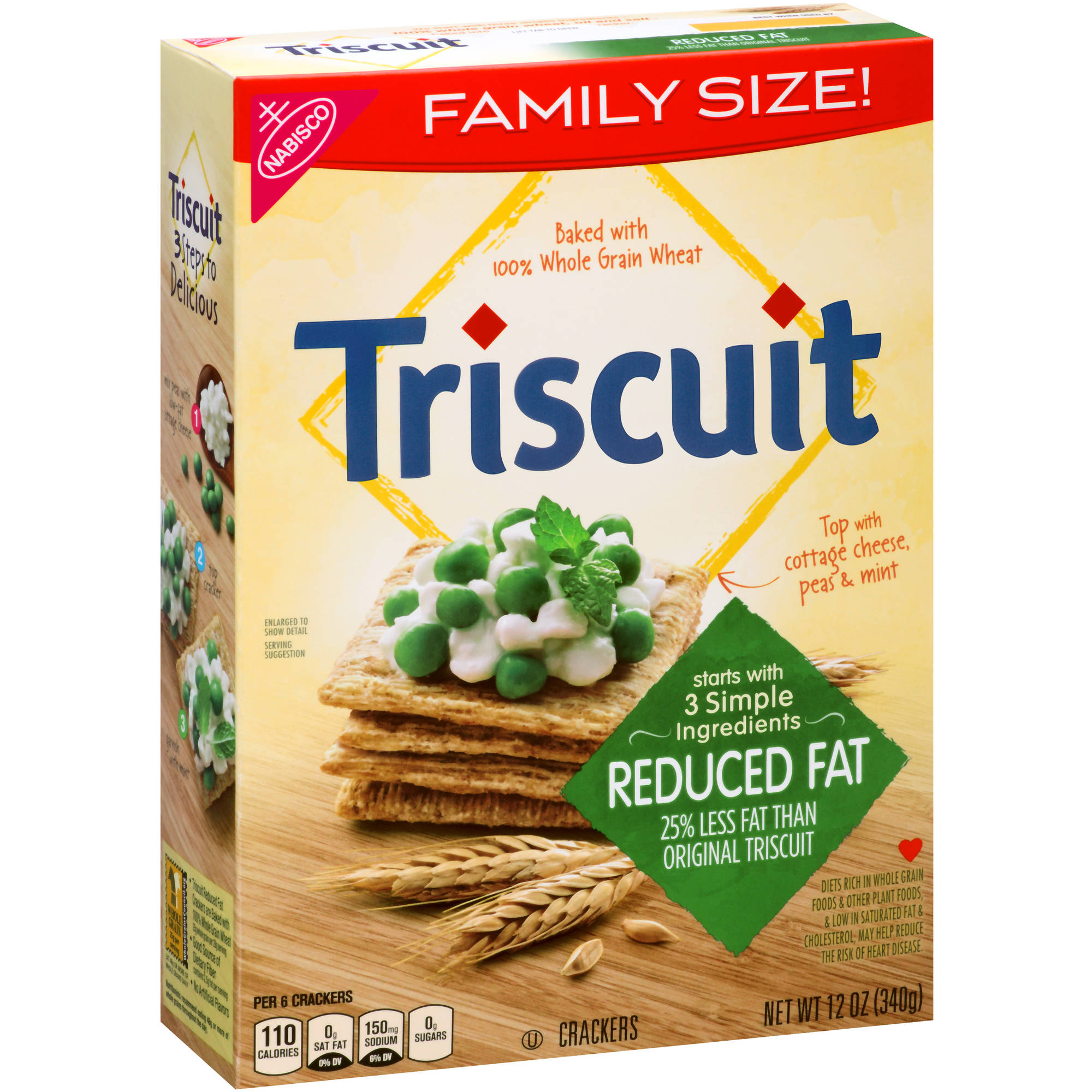 Nabisco Triscuit Reduced Fat Crackers, 12 oz