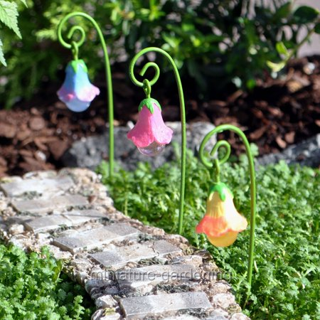 Marshall Home and Garden Glow Flowers, 3 Piece Set for Miniature Garden, Fairy Garden (Halloween Fairy Garden)