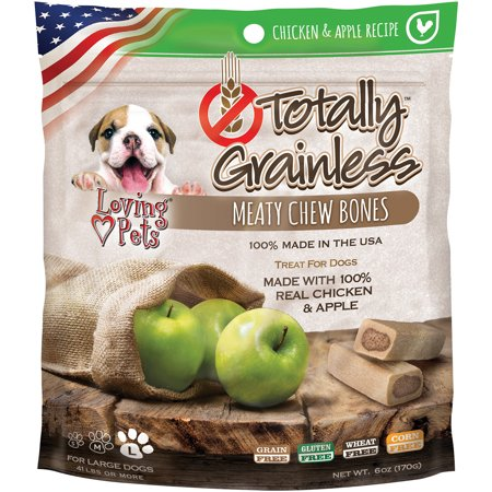 Totally Grainless Large Chicken and Apple Bone Dog Treats, 6 - Halloween Apple Treats
