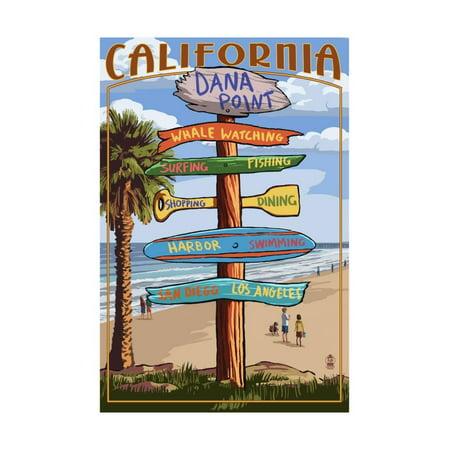 Dana Point, California - Destination Sign Print Wall Art By Lantern Press - City Of Dana Point Halloween