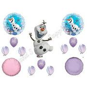 OLAF PURPLE AGATE SNOWFLAKES Balloons Birthday party Decoration Supplies Frozen Elsa