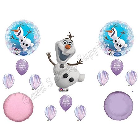 OLAF PURPLE AGATE SNOWFLAKES Balloons Birthday party Decoration Supplies Frozen - Elsa Birthday Party