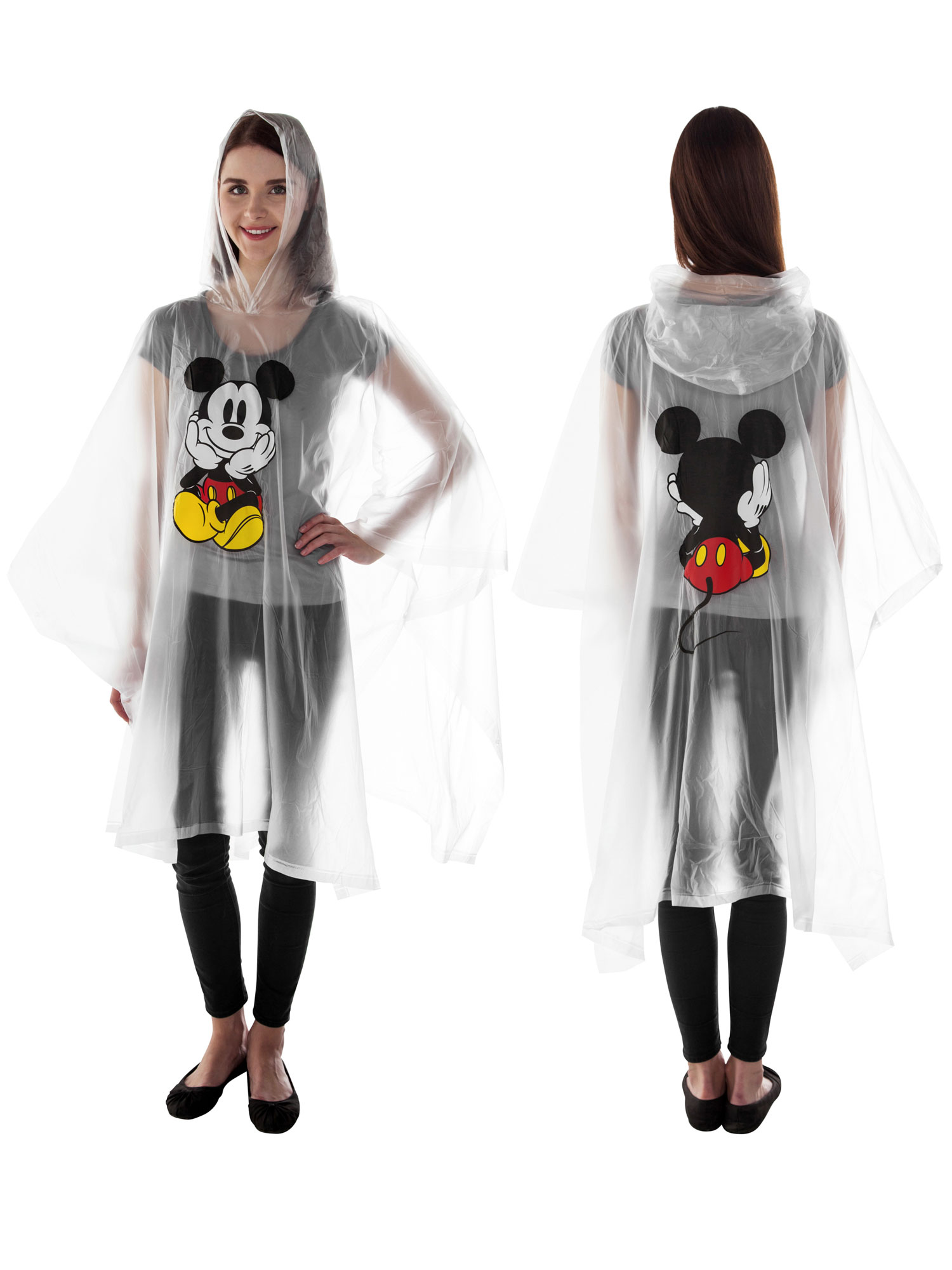 Women's Mickey Mouse Waterproof Rain Poncho Adult by Jerry Leigh