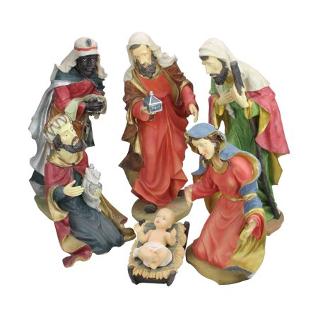 Christmas Three Kings - 6-Piece Large Scale Holy Family and Three Kings Religious Christmas Nativity Statues 19