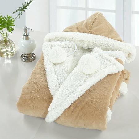 Comfy Hoodie Set - Chic Home Reyn Snuggle Hoodie Wearable Blanket, Camel