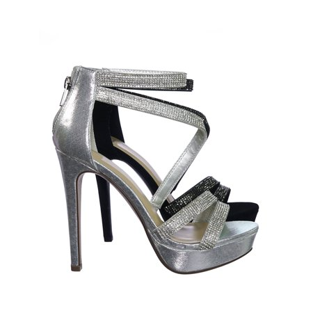 Evening High Heels - Flavor by Delicious, Rhinestone Crystal Embellished Evening High Heel Dress Sandal