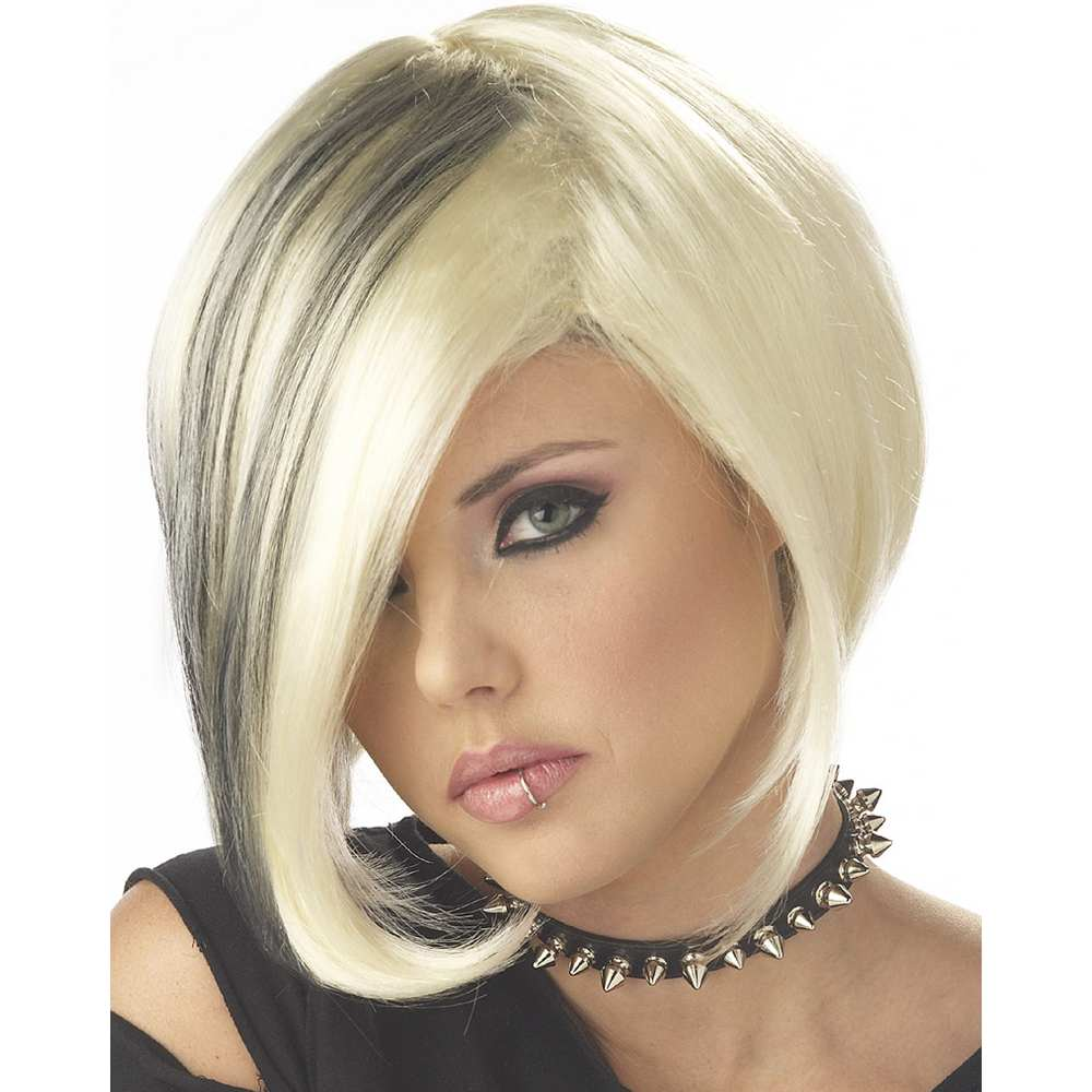 Mood Swing Blonde with Black Wig