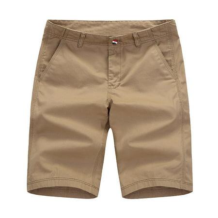 f978251605a4 Incerun - INCERUN New Fashion Men Casual Shorts Summer Zipper Pockets Slim  Fit Cotton Shorts - Walmart.com