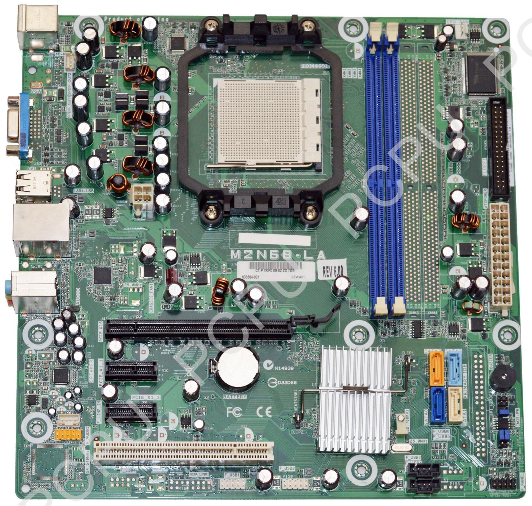 HP 633564-001 Hewlett-Packard M2n68-La Narra5 Pavilion Sl...
