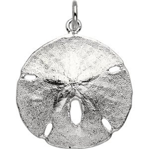 Jewels By Lux Sterling Silver Sand Dollar Pendant