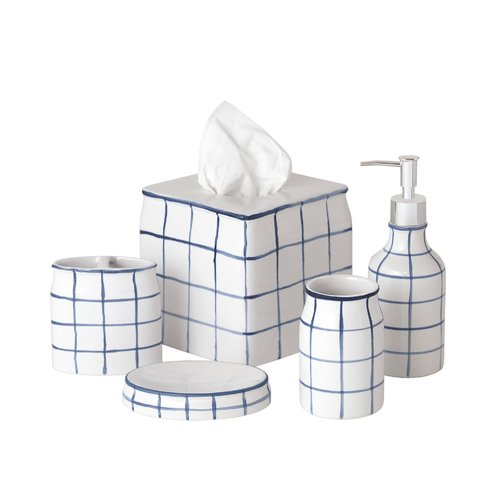 Turn on the Brights Wesley 5 Piece Bathroom Accessory Set