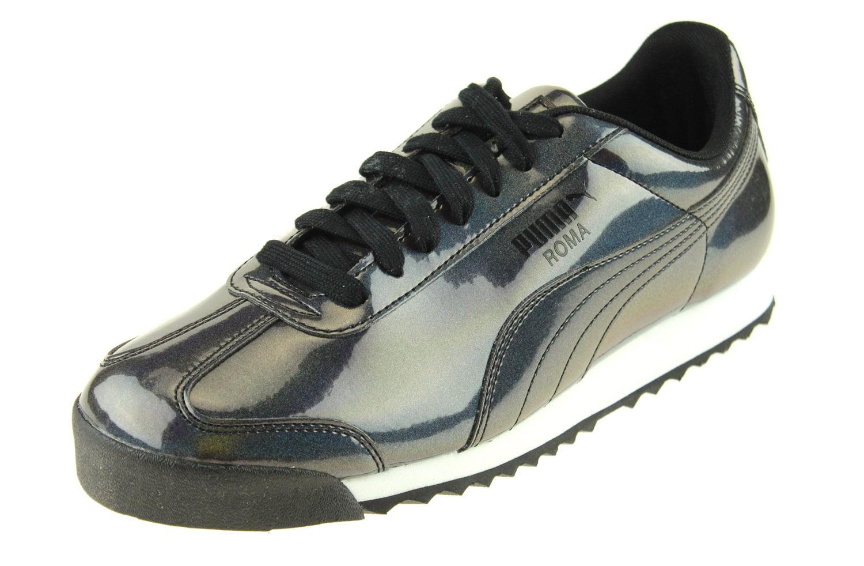 Puma Men's Roma AO Iridescent Fashion Sneakers (8.5, Black)