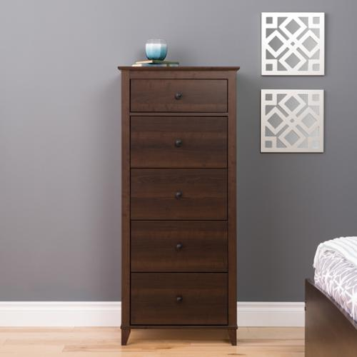 Prepac 5 Drawer Dresser in Dark Brown by Overstock